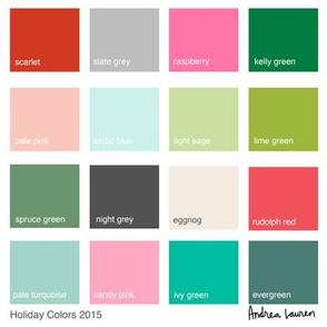 Christmas Color Palette 2015 - by Andrea Lauren