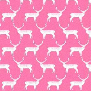 Reindeer - Raspberry Linen by Andrea Lauren