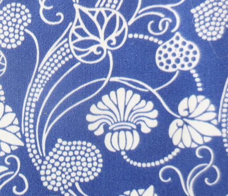 lotus damask navy blue