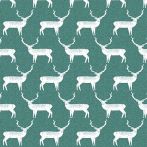 Reindeer - Evergreen Linen by Andrea Lauren