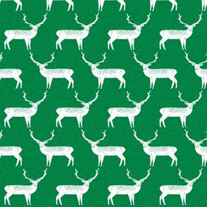 Reindeer - Kelly Green Linen by Andrea Lauren