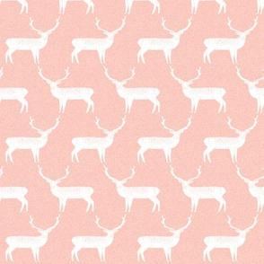Reindeer - Pale Pink Linen by Andrea Lauren