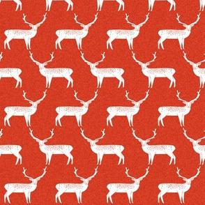 Reindeer - Scarlet Linen by Andrea Lauren
