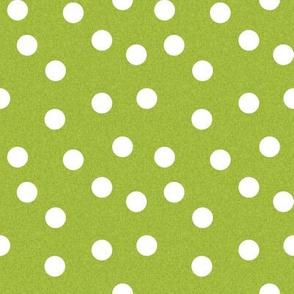 Christmas Dot Coordinate - Lime Green Linen Look by Andrea Lauren