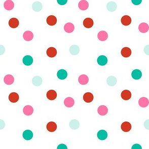 Christmas Dots - Scarlet, Raspberry, Ivy Green by Andrea Lauren