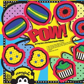 YD - Pop Art Cookie Cut & Sew Pillows