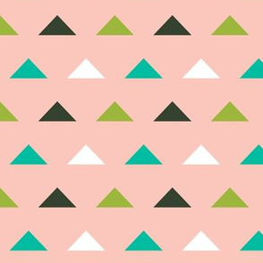 Christmas Triangles - Pale pInk, Ivy Green by Andrea Lauren