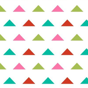 Christmas Triangles - Raspberry, Scarlet Red, Ivy Green by Andrea Lauren