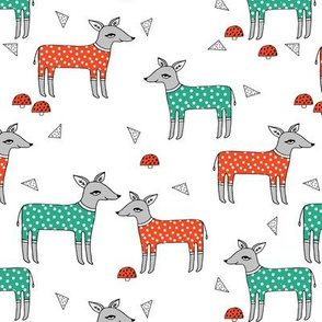 Reindeer Pajamas - Red and Green by Andrea Lauren