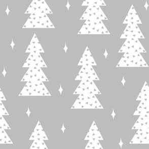 Triangle Trees - Slate background by Andrea Lauren