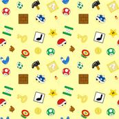 Mini Gaming Items in Yellow