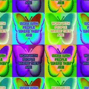Purple Butterfly Work With People Where They Are Two