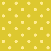 Yellow polka dots - green base