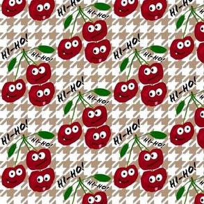 "cherries say ""hi-ho!"" -- captioned"