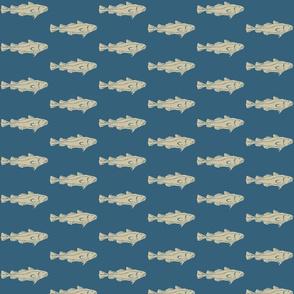 Fish SM khaki on denim- 2015