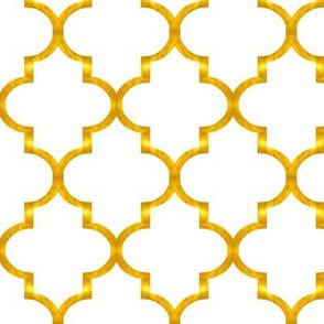 Gold Quatrefoil , small
