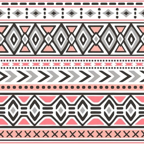 Tribal Aztec Rows in Pink