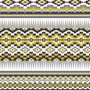 Aztec Rows in Yellow