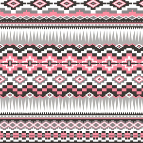 Aztec Rows in Pink