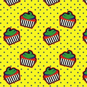 Pop Art Cupcake