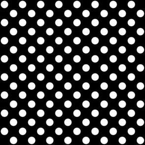 Black + Polka White Dots