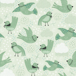 Flock of Rain Birds