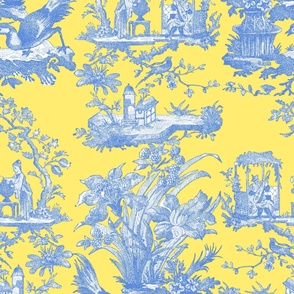 Chinoiserie Toile ~ Provence ~ Retreat on Citron Presse