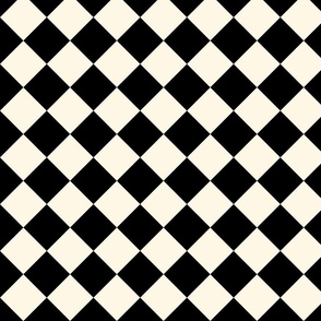 Wonderland Chessboard ~ Cosmic Latte and Black