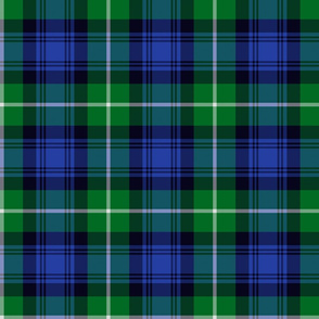 Lamont tartan - green and blue