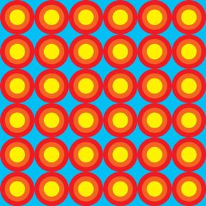 Dean's Tri-Color Target on Blue