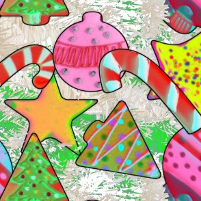 Pop Art Christmas Cookies large