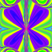 psychedelic four leaf clover