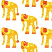BIG CRAFTS OrangeRaspberry Elephant