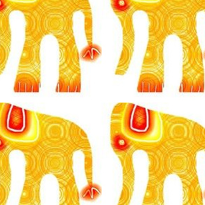 BIG CRAFTS OrangeRaspberry Elephant