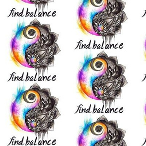 Find Balance yin and yang