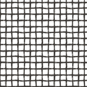Hand Drawn Grid black&White