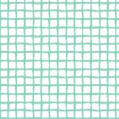 Hand Drawn Grid Mint Green