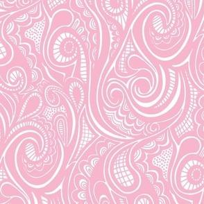 Swirl Waves Doodle Pink