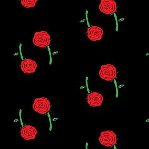 Danita's Twin Roses on Black