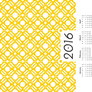 Onward - 2016 Calendar - Yellow
