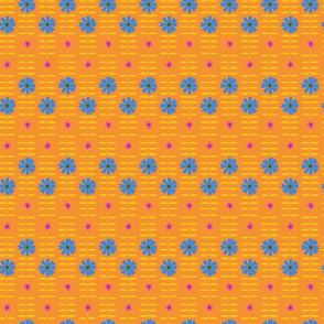 BETTY FLORAL orange blue
