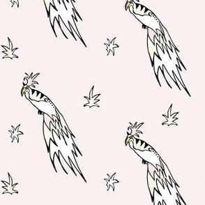 Tropical bird pink