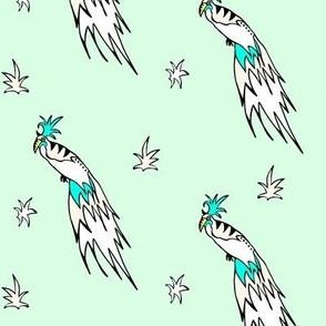 Tropical bird mint