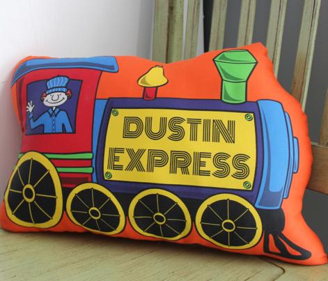 Custom Train Pillow - LUKE