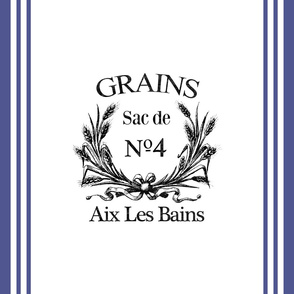 French Label Grain Sack Inspired