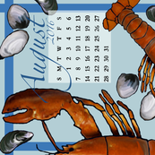 Lobster 2016 August Towel Calendar