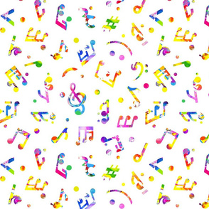 Music Notes Colored smaller scale