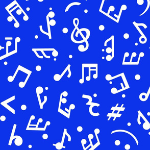 Music Notes & Navy BG medium scale