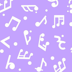 Music Notes on Lilac BG large scale
