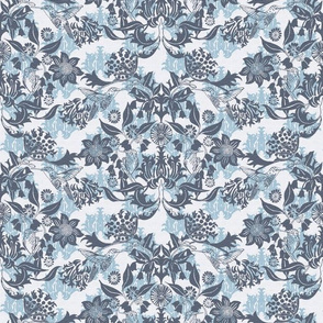 Hummingbird Damask #1